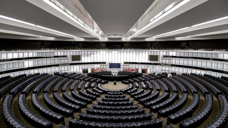 An inside view of the EU parliament - Photo by Frederic Köberl on Unsplash""