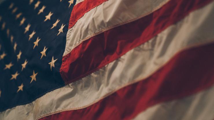 Detalj sa zastave Sjedinjenih američkih država.