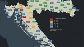 Rekordne visine snijega na karti Hrvatske